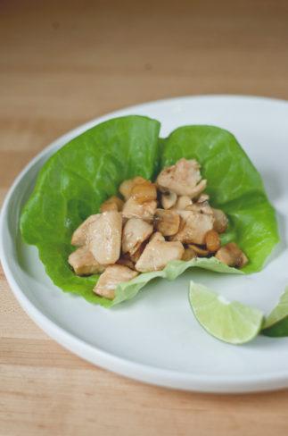 Asian Chicken Lettuce Wraps | asimplepalate.com