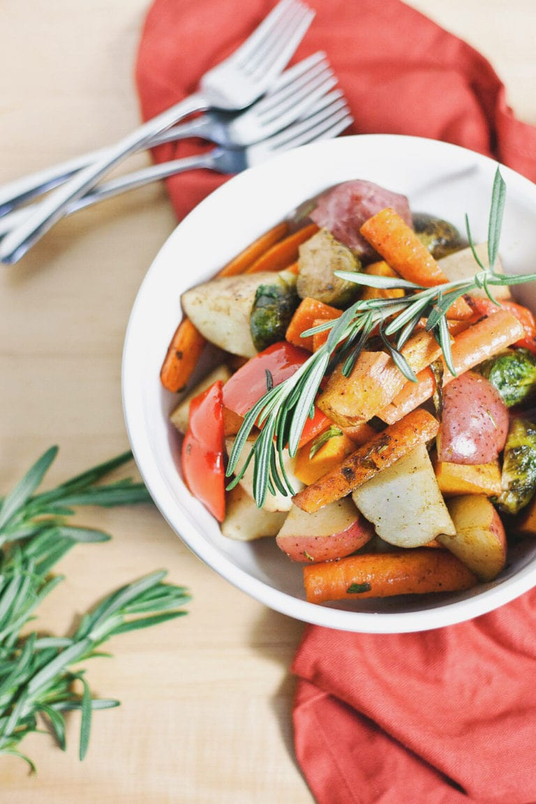 Roasted Vegetables with Rosemary & Balsamic | asimplepalate.com