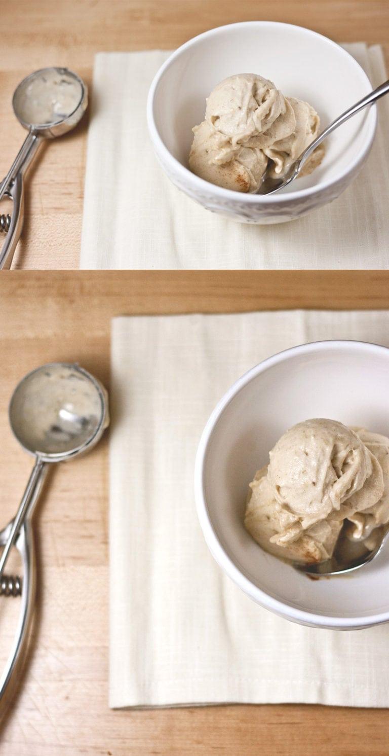 Vanilla-Cinnamon NICE Cream! | asimplepalate.com