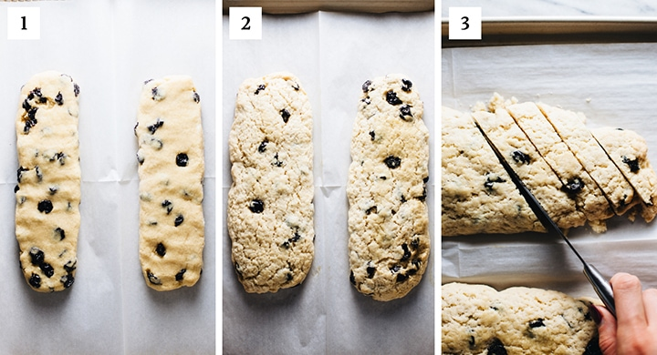 step by step photos on how to make Italian Biscotti's.