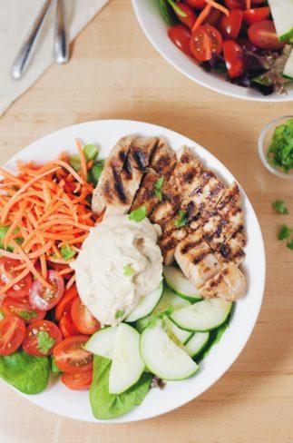 Hummus Power Salad | asimplepalate.com