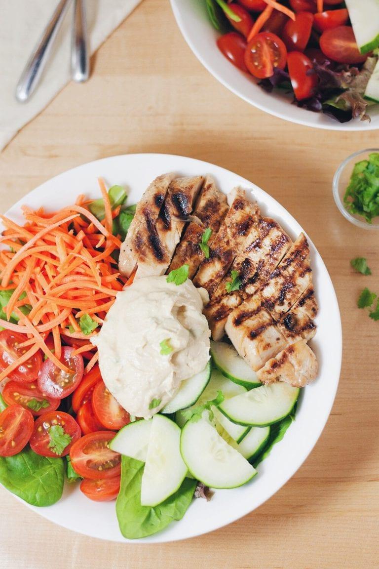 Hummus Power Salad   asimplepalate.com