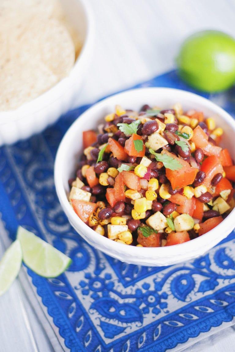 Zesty Corn, Black Bean, & Avocado Salsa | asimplepalate.com