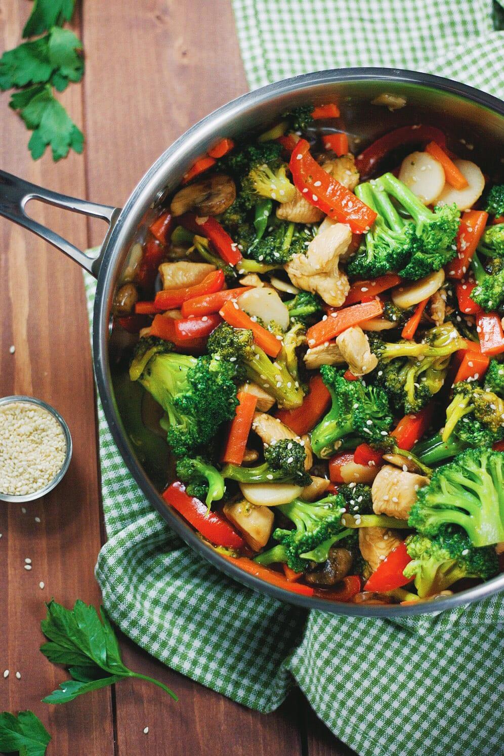 Easy Chicken & Vegetable Teriyaki | asimplepalate.com