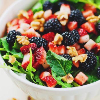 Blackberry & Walnut Summer Salad
