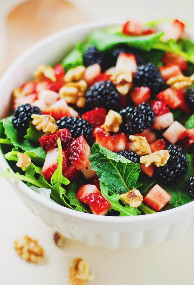 Blackberry & Walnut Summer Salad
