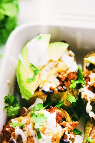 Easy Turkey Black Bean Stuffed Peppers - An EASY recipe packed with healthy, real-food ingredients! A 30 minute meal that is SO delicious. | asimplepalate.com