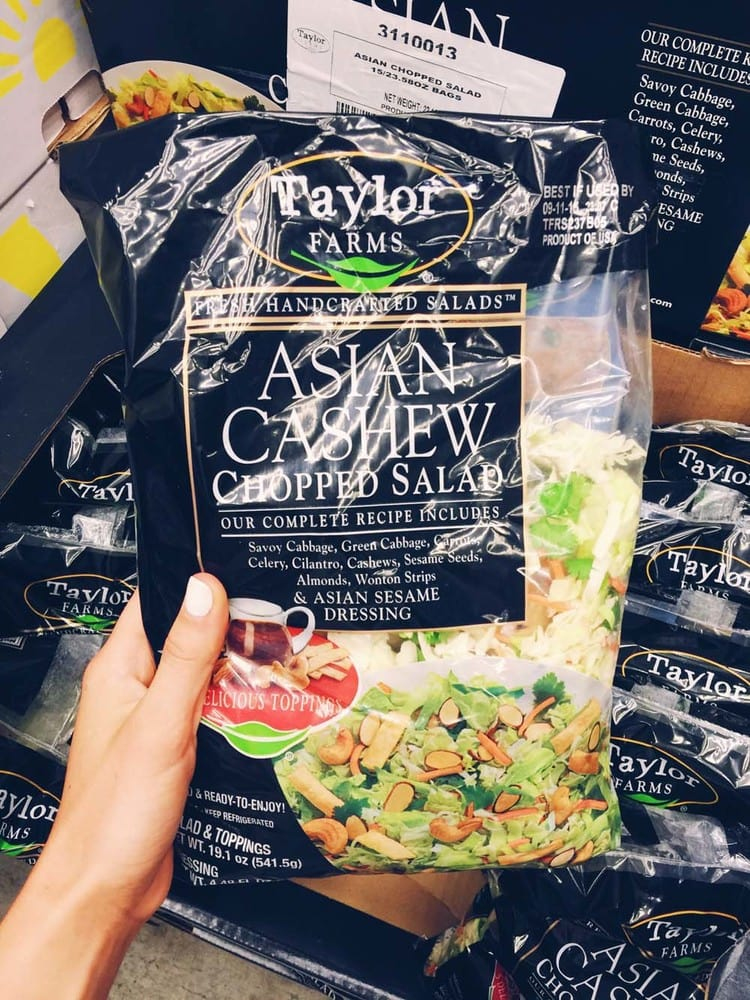 Asian Chopped Salad | 21 Delicious Things to Buy at Costco that are GF, healthy or just plan yum! | asimplepalate.com