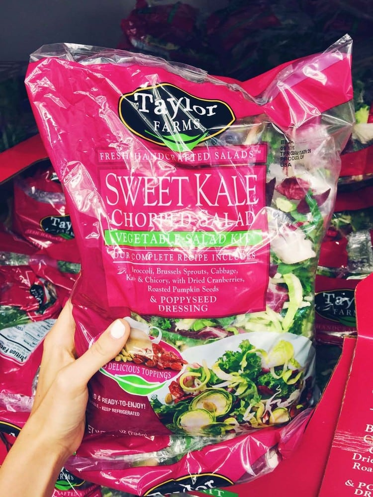 Sweet Kale Salad | 21 Delicious Best Buys at Costco for all things FOOD! Get your grocery list ready for your next trip to our favorite wholesale store! | asimplepalate.com #costco #costcofoods #costcofinds