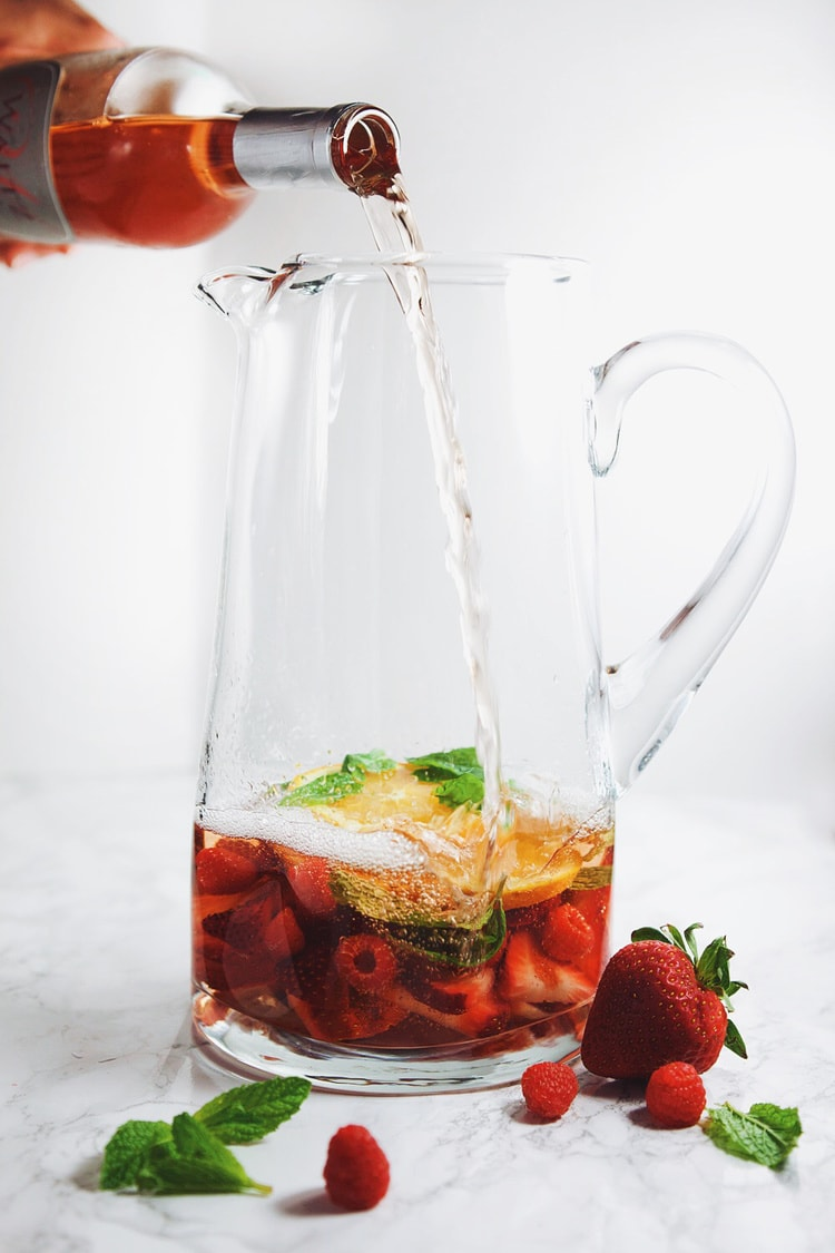 Fresh berries and citrus flavors all in a perfectly sweet, refreshing sangria! SO good.   asimplepalate.com