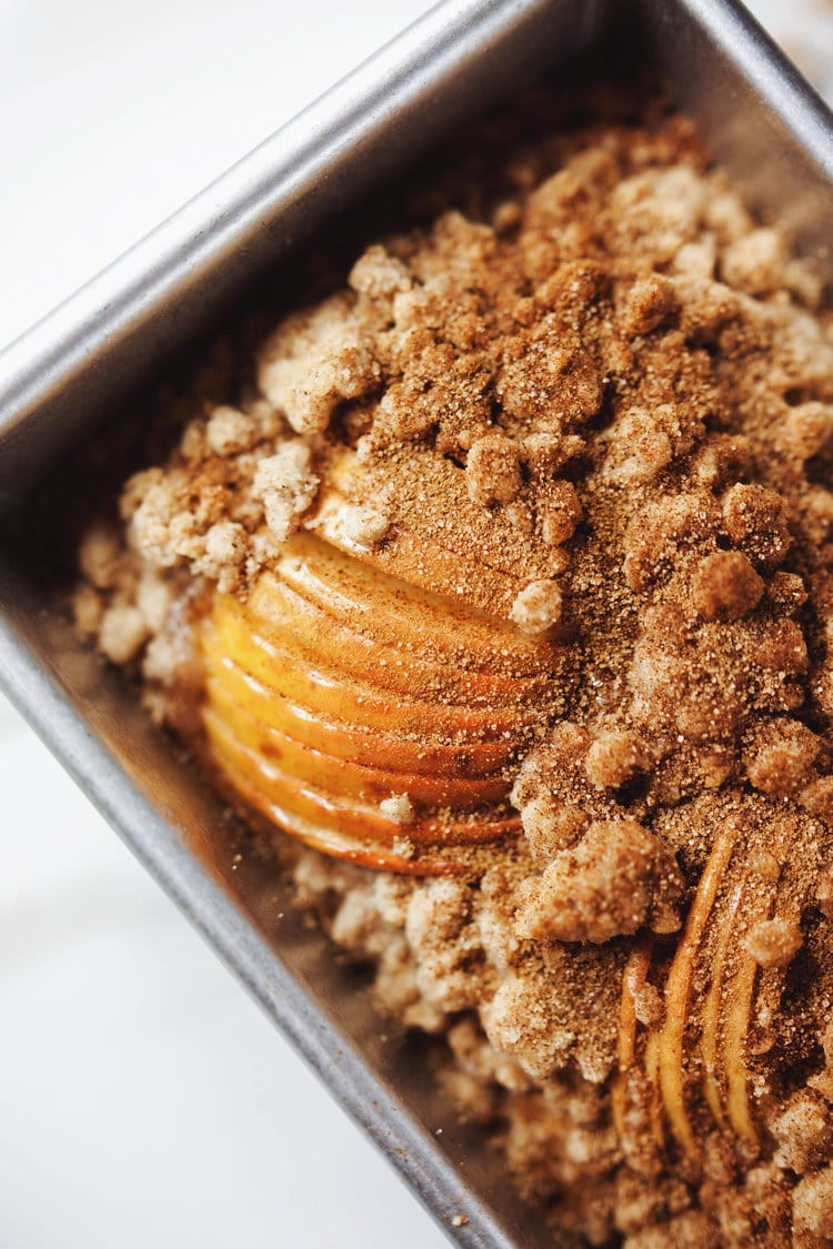 Apple Crisp Topping Made With Cake Mix