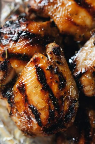 Honey Mustard Grilled Chicken Thighs