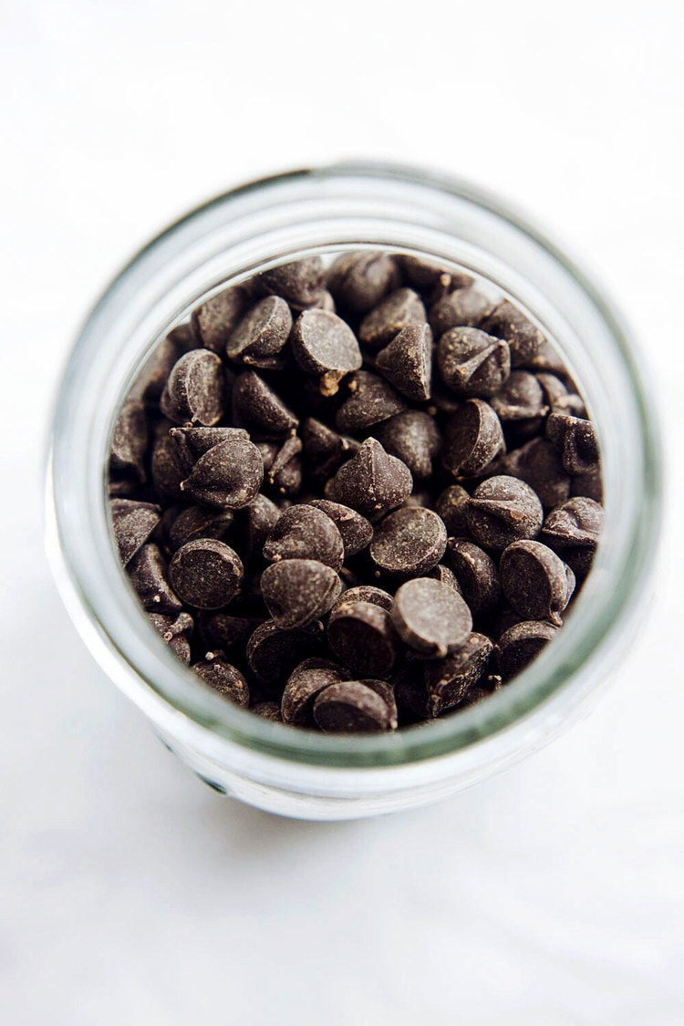 Chocolate chips for chocolate coconut bites