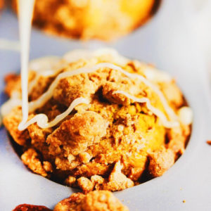 Fluffy Pumpkin Crumb Muffins - One of my favorite pumpkin recipes to make! Super flavorful, fluffy pumpkin muffins that are easy to make for any Holiday gathering! SOyummy.   asimplepalate.com