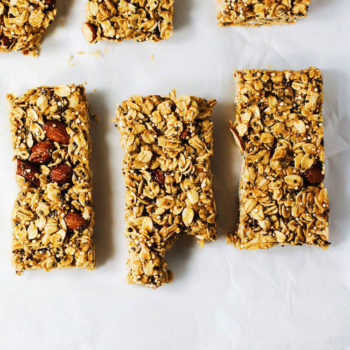 6 Ingredient Almond-Chia Vegan Bars - Chewy, buttery bars that are healthy and so satisfying! No refined sugars, no baking, and SO easy to make! | asimplepalate.com
