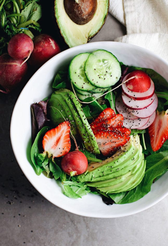 Healthy, wholesome,Loaded Detox Chia Salad. One of my favorite salads!   asimplepalate.com