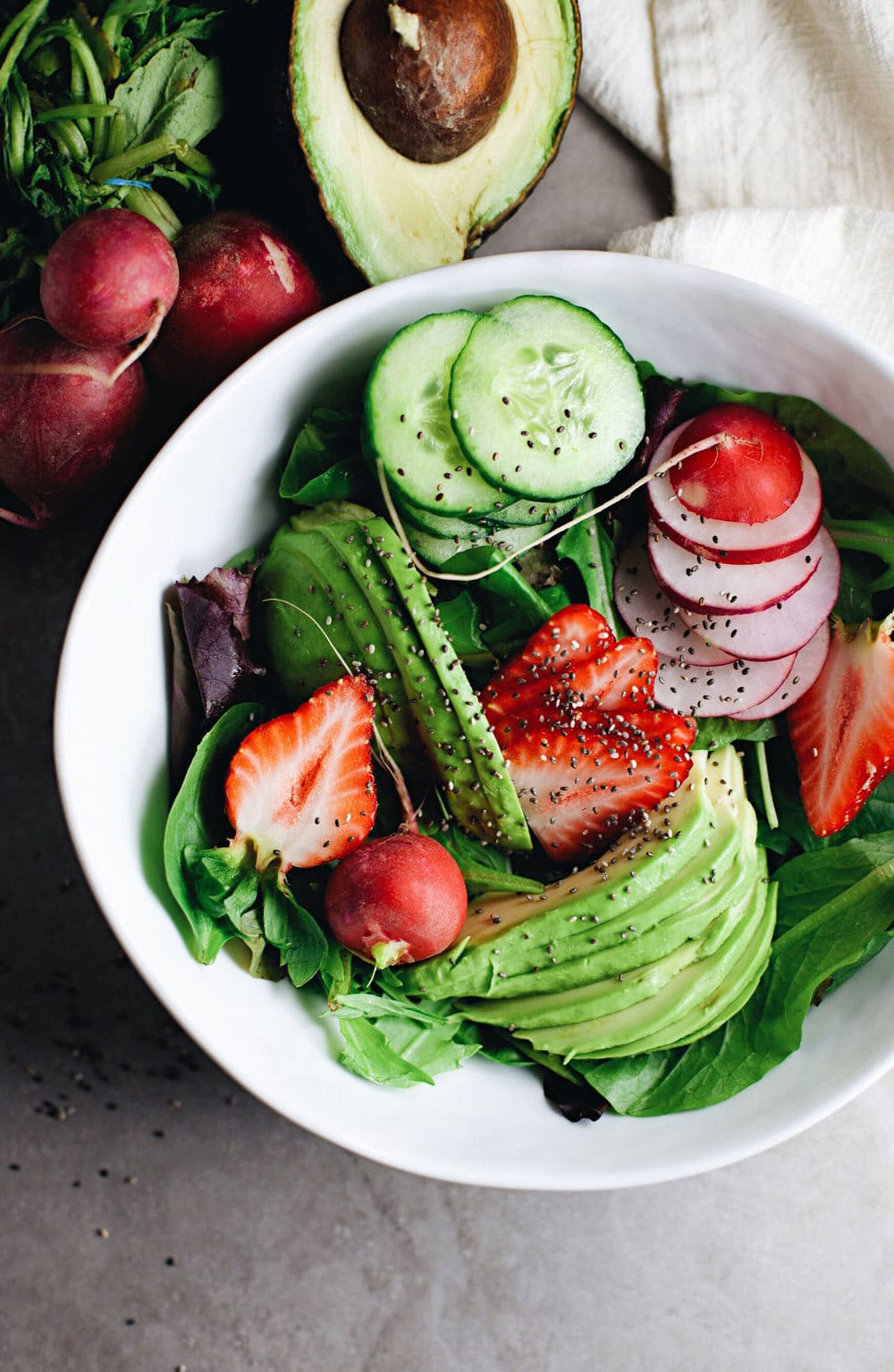 Healthy, wholesome,Loaded Detox Chia Salad. One of my favorite salads! | asimplepalate.com