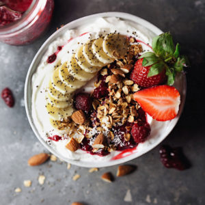 Raspberry Compote Yogurt Bowl - Satisfying, delicious, and wholesome.
