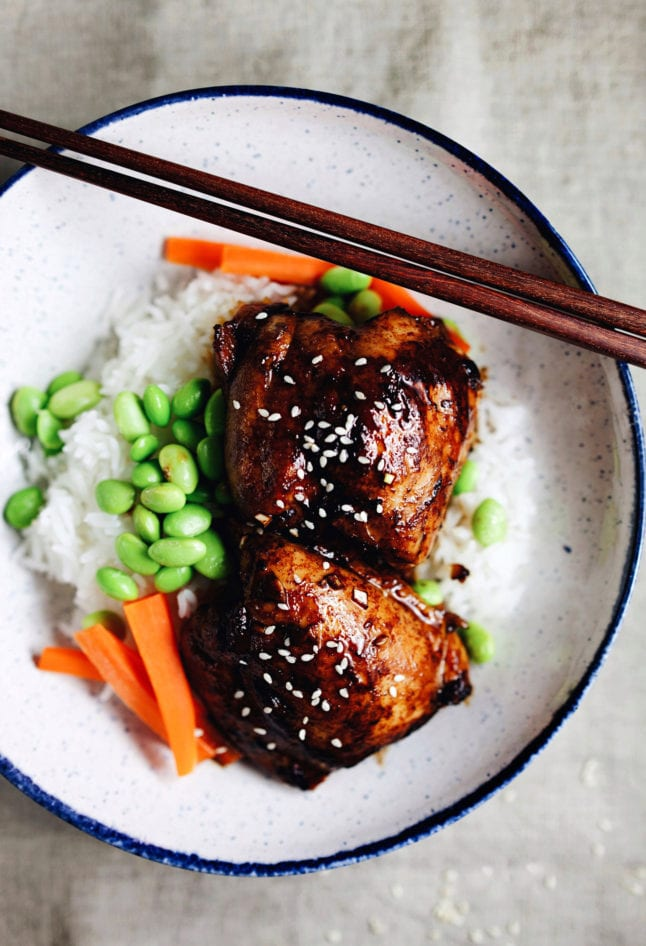 30 Minute Honey Soy Chicken Rice Bowl - simple, delicious, and wholesome.   asimplepalate.com