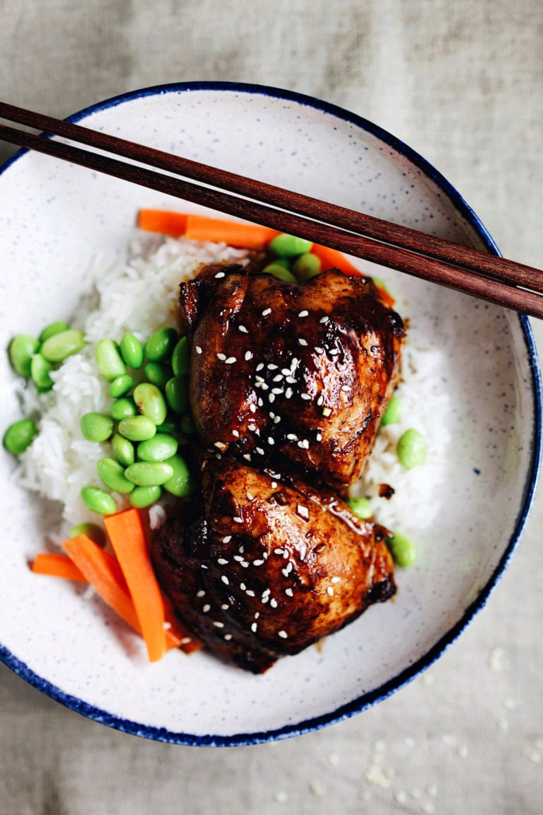 30 Minute Honey Soy Chicken Rice Bowl - simple, delicious, and wholesome. | asimplepalate.com