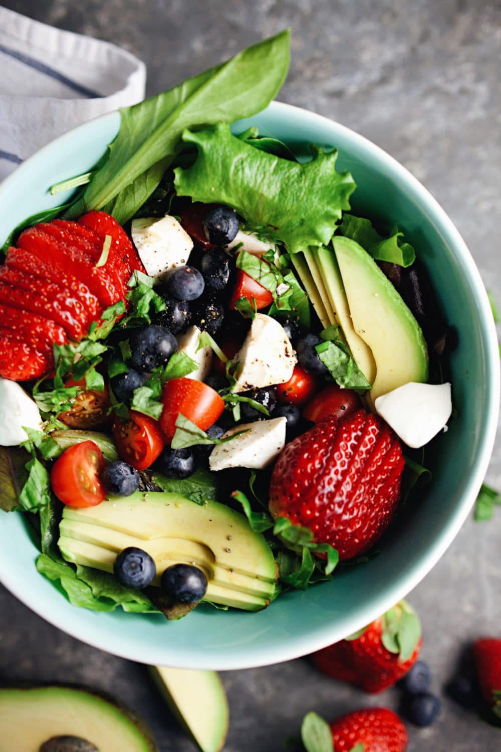 Loaded Berry Caprese Salad - so refreshing and one of my favorite salads! | asimplepalate.com