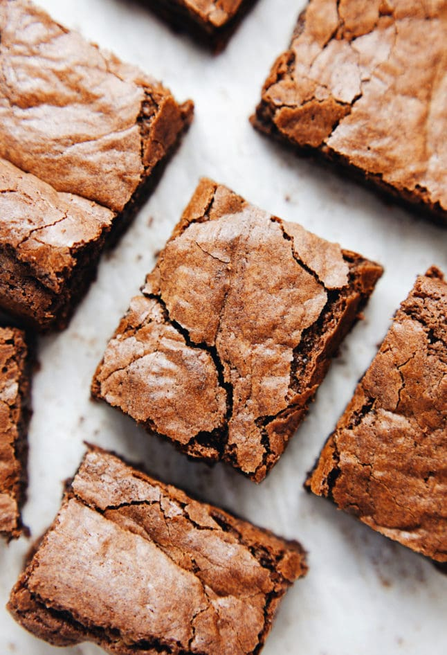 Fudgey, rich, coconut oil brownies with a hint of espresso! SO delicious.   asimplepalate.com
