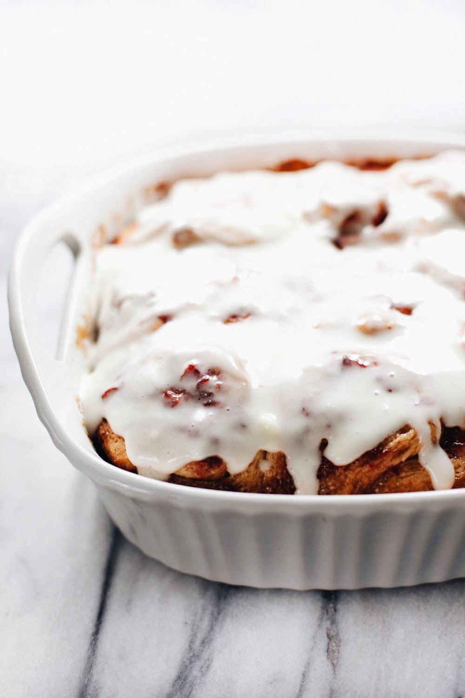 Sticky, moist, perfectly sweet, Strawberry Rhubarb Cinnamon Rolls. AMAZING