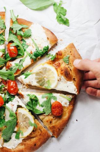 Whole Wheat Lemon Arugula Pizza