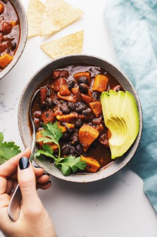 30 Minute Sweet Potato Black Bean Chili