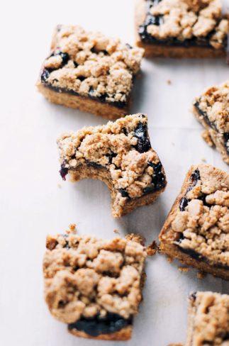 Paleo Blueberry Crumble Bars