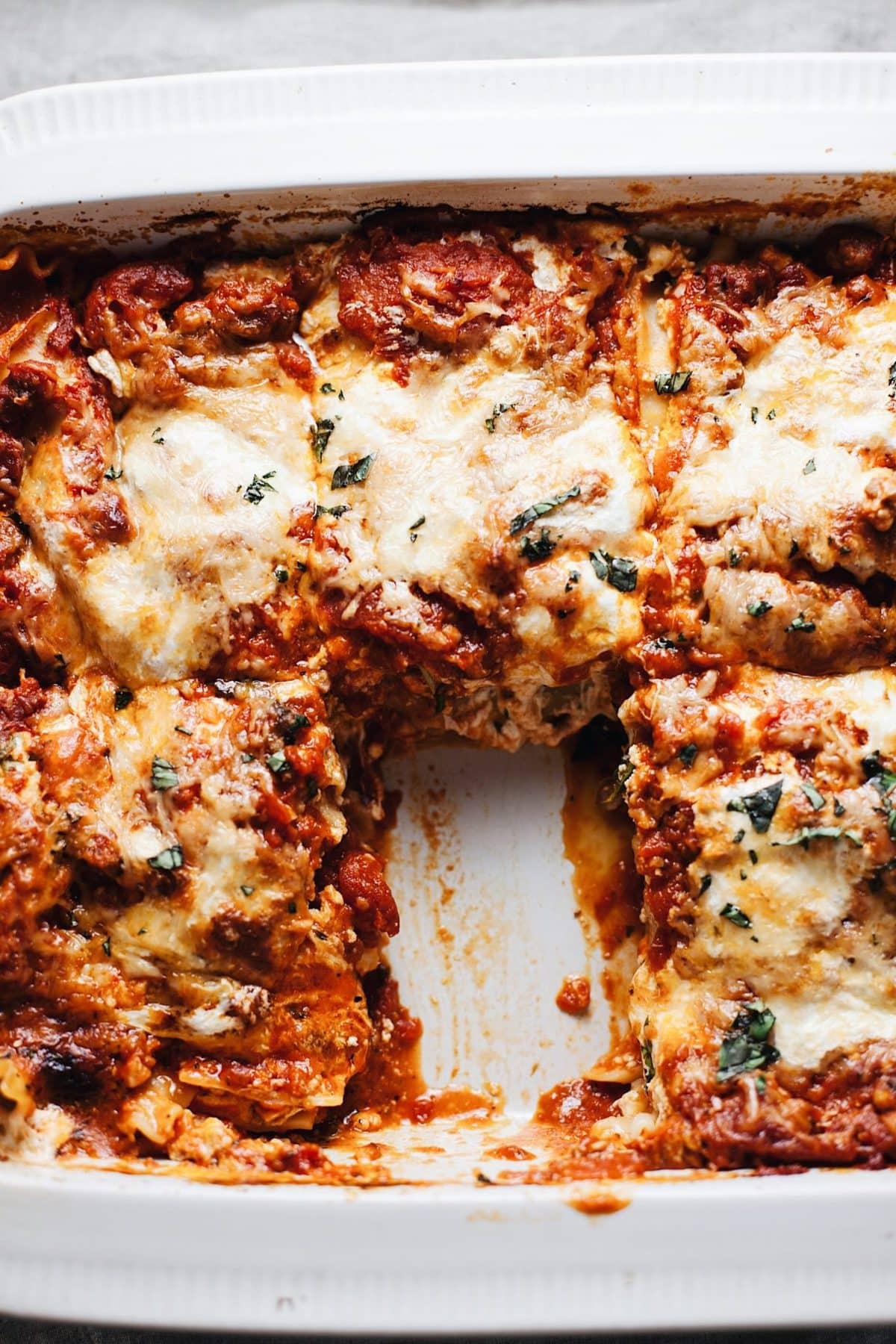 Sweet Spicy Italian Sausage Lasagna A Simple Palate