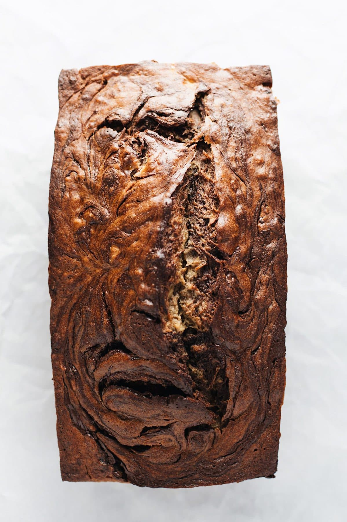 close up of a load of moist banana bread