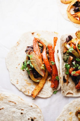 The BEST EVER Vegetarian Fajitas