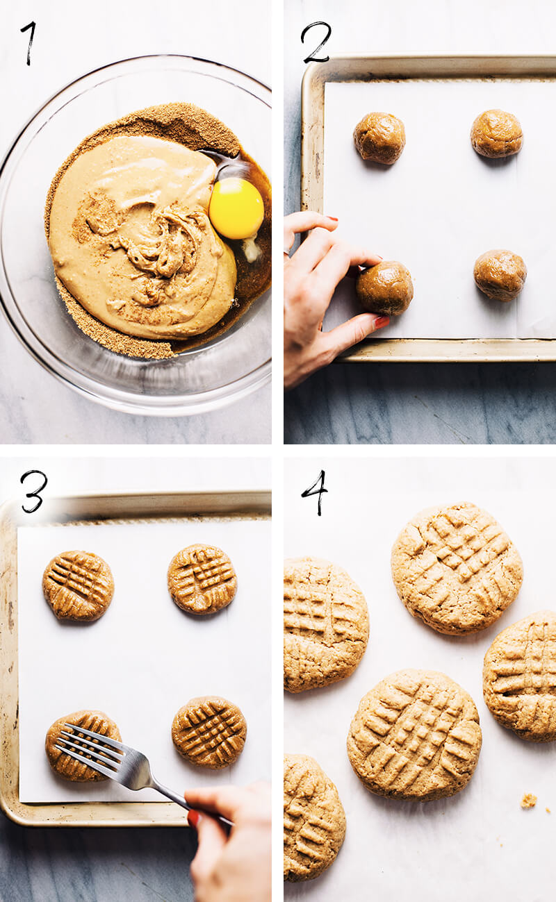 How to Make These Flourless Peanut Butter Cookies - Step by Step