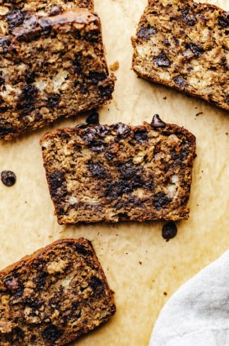 Flourless Chocolate Chip Banana Bread