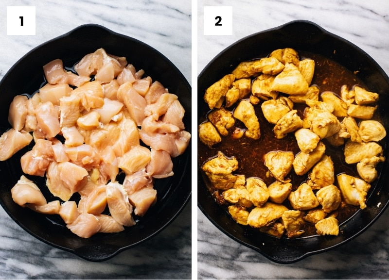step by step photos showing how to make teriyaki chicken.