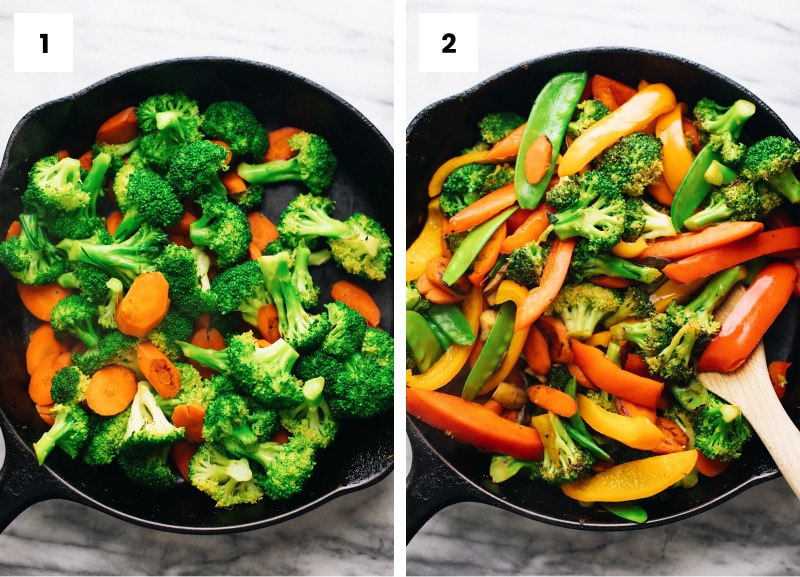 step by step photos of how to make stir fry vegetables
