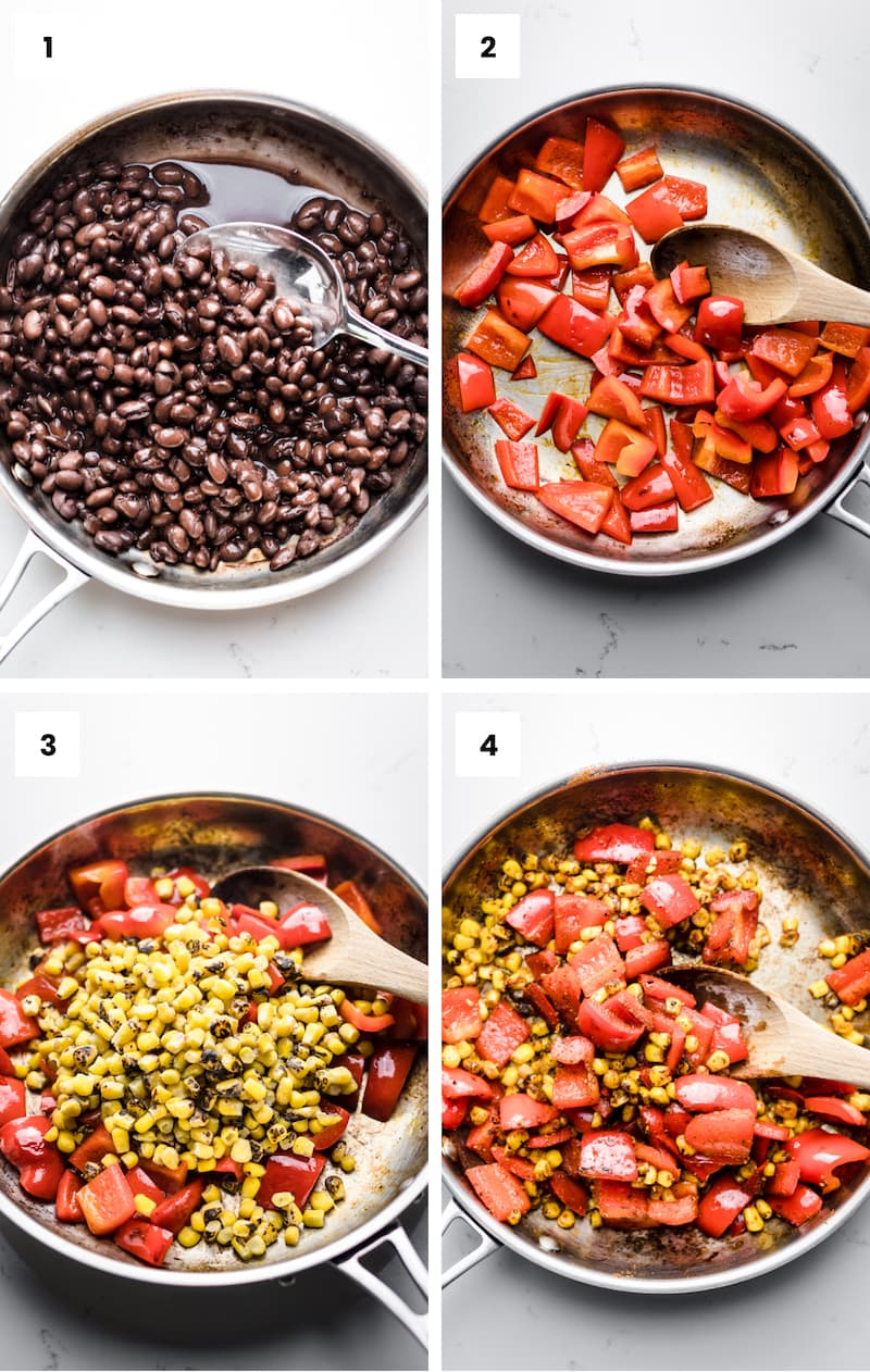 How to make vegan burrito bowls step by step