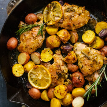 Roasted Lemon Rosemary Chicken with Potatoes
