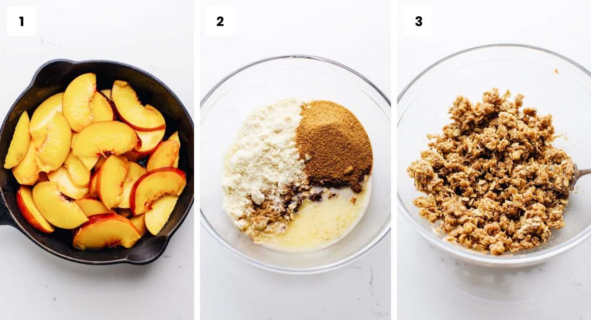 How to make the perfect gluten free peach crisp recipe step by step
