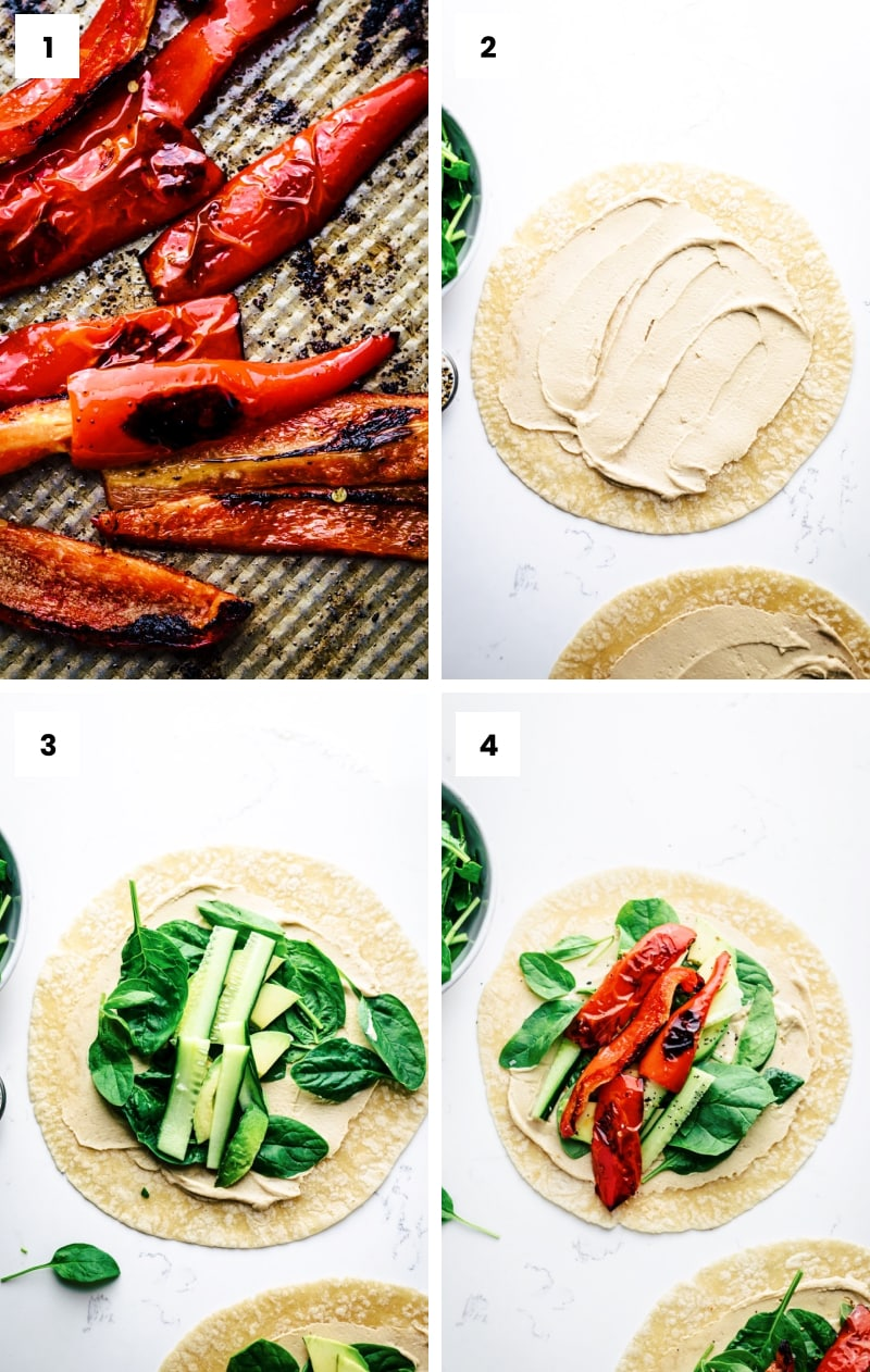 How to make veggie wraps step by step
