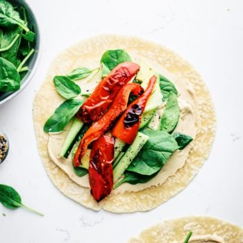 Roasted Pepper Hummus Veggie Wrap