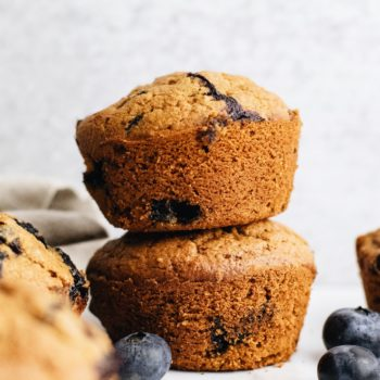 Fluffy Blueberry Oatmeal Muffins