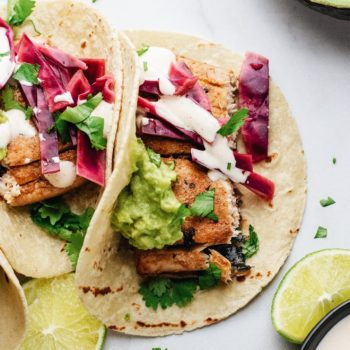 Grilled Mahi Mahi Tacos with Pickled Cabbage Slaw