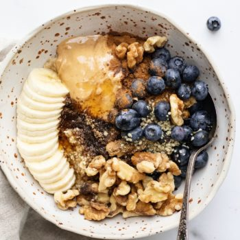 Superfood Peanut Butter Oatmeal Bowl