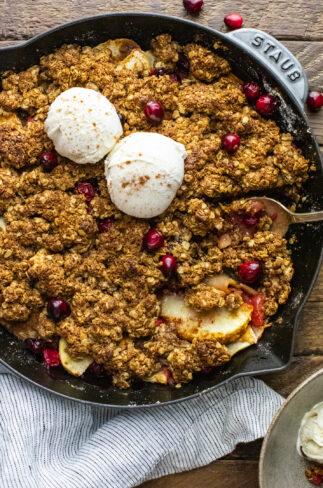 Oatmeal Apple Cranberry Crisp