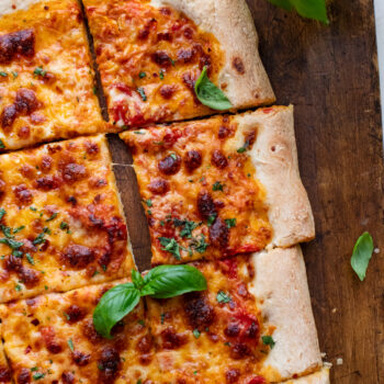 Sheet Pan Pizza with Roasted Tomato Sauce