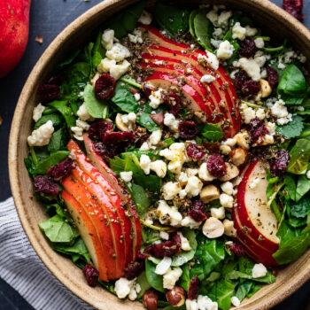Pear Salad with Gorgonzola & Hazelnuts